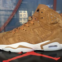 Best Deal Online Nike Air Jordan 6 Retro Wheat Men Sneakers Women Sports Shoes 384664-705