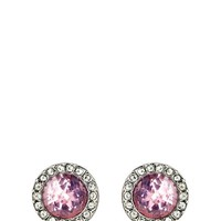 Pave Stone Stud Earring