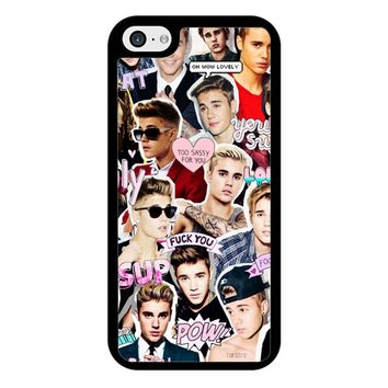 Justin Bieber Collage iPhone 5/5S/SE Case