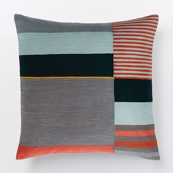 Margo Selby Crewel Colorblock Pillow Cover - Red