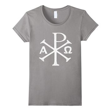 Chi Rho T-Shirt Christogram Greek Good Chrismon Jesus Christ