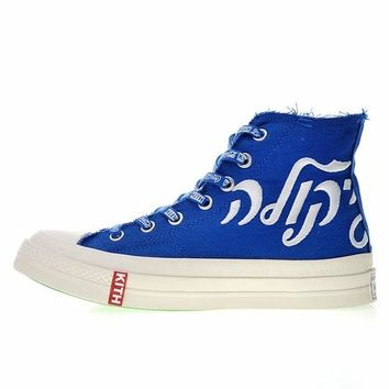 "KITH x Coca-Cola x Converse Chuck Taylor All Star 1970S ""Blue&Red"" Sneaker 162987C"
