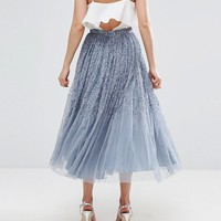 ASOS Tulle Prom Skirt with Embellishment at asos.com