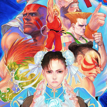 Street Fighter II Turbo Video Game Poster 18x24