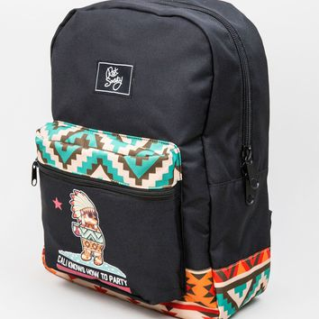 Cali Knows How to Party Native Flag Backpack