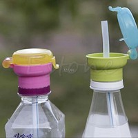 Kid Child Infant Toddler Feeding Drinking Straw Tube Bottle Cap