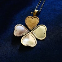 Folding Heart Locket Necklace Free Shipping!