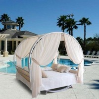 Vifah Outdoor Round Bed Set