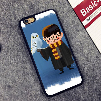 Harry Potter and Hedwig Printed Soft TPU Skin Cell Phone Cases For iPhone 6 6S Plus 7 7 Plus 5 5S 5C SE 4 4S Back Cover Shell