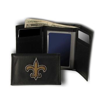 New Orleans Saints NFL Embroidered Trifold Wallet
