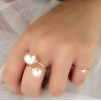 Italina Rigant Elegant Simulated Pearl Rings Anel Joias With Austrian Crystal Stellux Utopia Jewelry = 1958221252