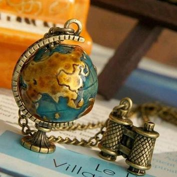 Globe Binocular Long Pendant & Necklace