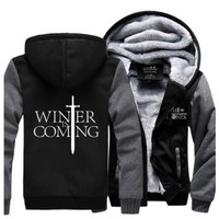 Winter is comming tragaryen Team Game of Thrones A Game of Thrones wolf house stark costume hoodie coat