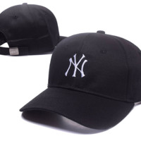Black & White NY Embroidered Baseball Cap Hats