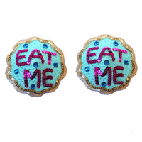 Eat Me Cookies Burlesque Pasties Nipple Tassels