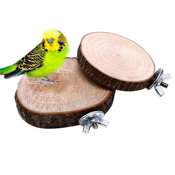 Parrot Pet Bird Chew Toy Wooden Hanging Swing Birdcage Parakeet Cockatiel Cages For Bird Pecking Sewing Game Playing Pet Product