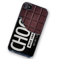 iPhone 4 Case Chocolate Bar Candy iPhone Hard by TheCuriousCaseLLC