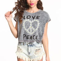 LOVE PEACE CROP TOP