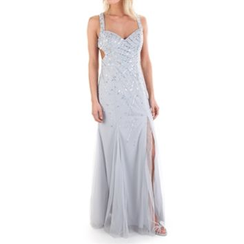 Sean Collection Juniors Strap Back Beaded Gown at Von Maur