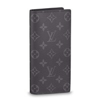 Louis Vuitton Monogram Eclipse Canvas Brazza Wallet Article:M61697 Made in France