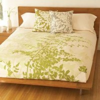 """Fern"" Duvet Cover: Celery : Branch: Sustainable Design for Living"