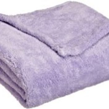 Northpoint Everyone Ultra Plush Throw, Lavender