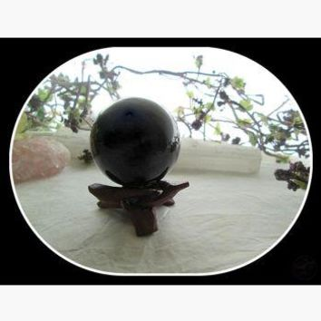Black Obsidian Crystal Ball & Stand 50mm