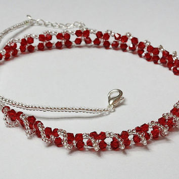 Wine crystal necklace
