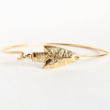 Arrowhead Bangle Bracelet Arrow Alertness Jewelry
