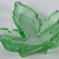 - Pot Leaf Glass Ashtray - Each Piece - Other