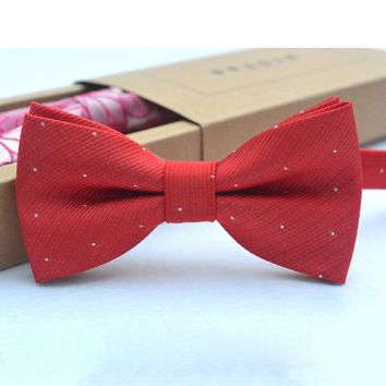 Brand new fashion popular butterfly gravata party bowtie wedding bow tie for boys girls candy color dot pattern bowknot