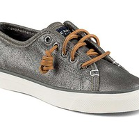 Sperry Top-Sider Womens Seacoast Sneaker in Metallic Pewter STS93421