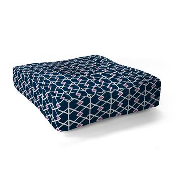 Heather Dutton Annika Diamond Orchid Floor Pillow Square