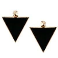 ASOS Spike Triangle Earrings at asos.com
