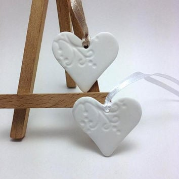Heart Favors, Wedding Favors, Wedding Decorations, Wedding Guest Favours, Heart Tags, Gift Wrapping Tags, Pack of 10 or 25 Tags