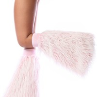 Clubstyle Frosted Baby Pink Fluffies : UV Reactive Furry Leg Warmers and GoGo Covers
