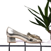 Platine Gold Loafers by Carel : Spring Summer 17 Carel Paris
