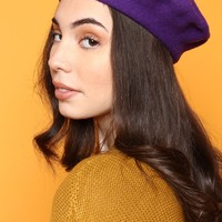 Must Have Wool Beret - Ultra Violet