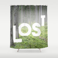 LOST Shower Curtain by Cafelab