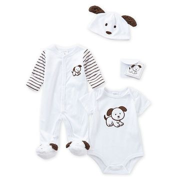 Starting Out Baby Boys Newborn-3 Months 3-Piece Puppy Layette Collection | Dillards