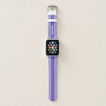 Violet small plaid pattern. Add name. Apple Watch Band