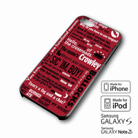 supernatural crowley quotes iPhone case 4/4s, 5S, 5C, 6, 6 +, Samsung Galaxy case S3, S4, S5, Galaxy Note Case 2,3,4, iPod Touch case 4th, 5th, HTC One Case M7/M8