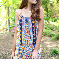 Bailey Printed Shift Dress by GLAM