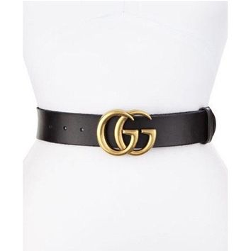 New w/ Tags Authentic Gold GG Buckle Gucci Belt Size 80