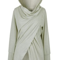Cupshe Falling For You Asymmetric Hooded Top