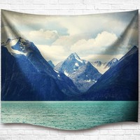Norwegian Mountainscape Tapestry