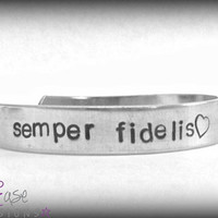 Semper Fidelis. Semper Fi. Always faithful. marine corps bracelet. usmc military jewelry