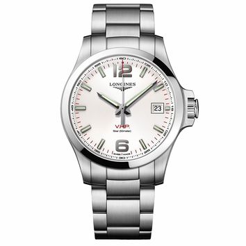 Longines Conquest V.H.P. Silver Dial Mens Watch L3.716.4.76.6