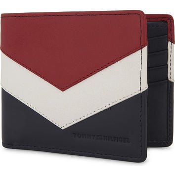 TOMMY HILFIGER Chevron mini leather wallet