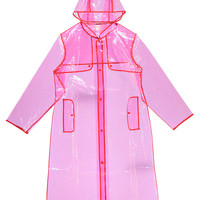 Lina Longline Hooded Plastic Mac